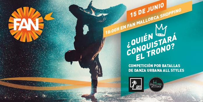 Competición por batallas de Danza Urbana All Styles en FAN Mallorca