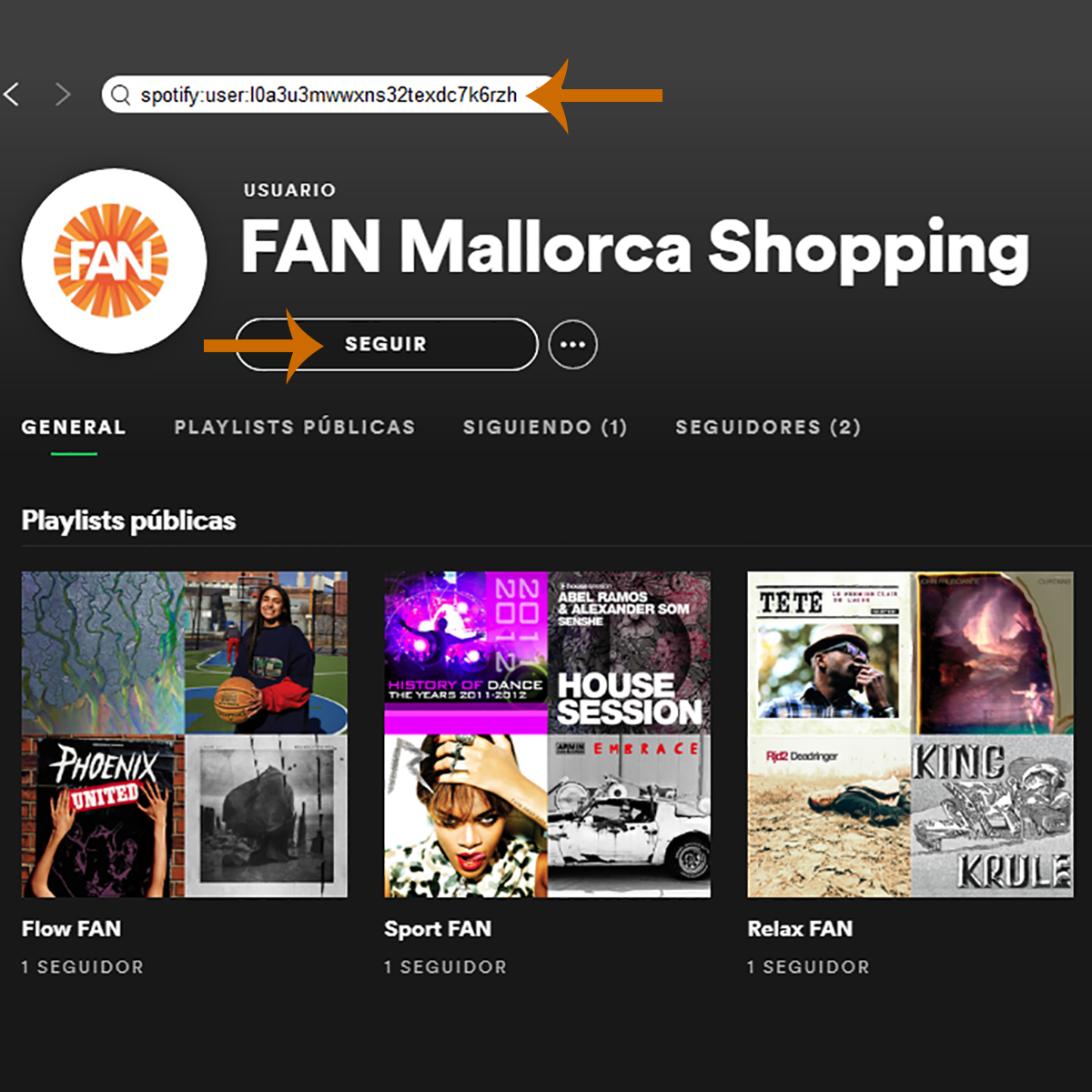 Spotify de FAN Mallorca Shopping