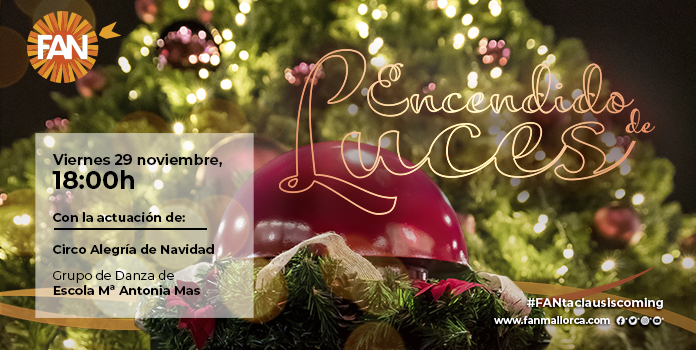 encendido de luces de Navidad en FAN Mallorca